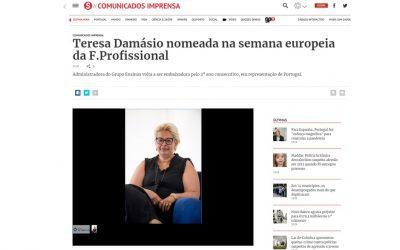 Sábado: Teresa Damásio nomeada na semana europeia da F. Profissional
