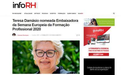 Teresa Damásio nomeada Embaixadora da Semana Europeia da Formação Profissional 2020