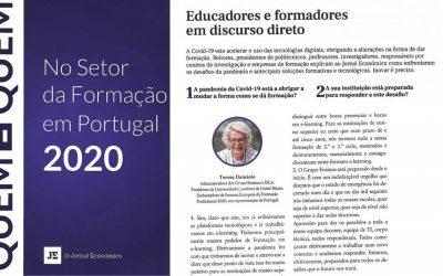 Jornal Económico: Quem é Quem no setor da formação em Portugal 2020