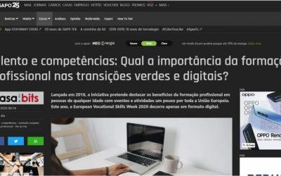"""""""Talento e competências: Qual a importância da formação profissional nas transições verdes e digitais?"""